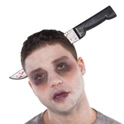 Halloween / Blodig kniv genom huvudet