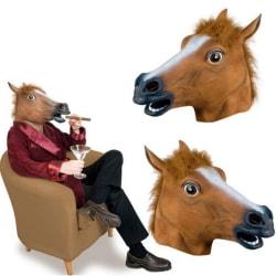Hästhuvud mask till maskerad festen