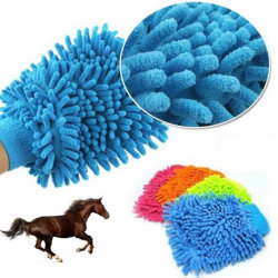 Microfiberhandske för hästen rosa