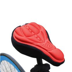 Sadelöverdrag - cykel sadelskydd med vaddering röd