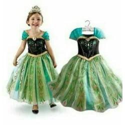 Söt Princess Anna klänning 120 cl
