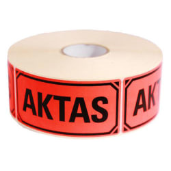 Etikett AKTAS - självhäftande etiketter 50-Pack