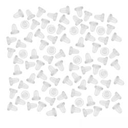 Gummiploppar till örhängen 100-Pack