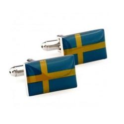 Manschettknappar svenska flaggan