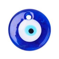 Onda ögat / nazar lampwork hänge 4-Pack Mörkblå