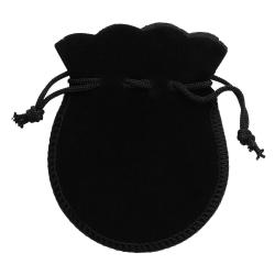 Påse present / smycke / julkalender sammet svart Black