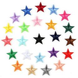 Tygmärke patch stjärnor 27 mm 20-Pack MultiColor