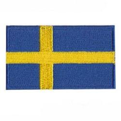 Tygmärke / patch Svenska flaggan