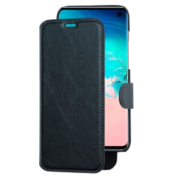 Plånboksfodral med avtagbart mobilskal till Samsung Galaxy S10 Svart