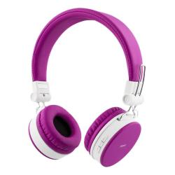 STREETZ hopfällbara Bluetooth-hörlurar med mikrofon Rosa