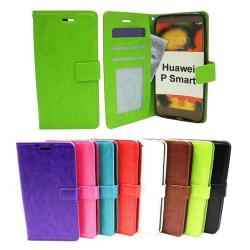 Crazy Horse Wallet Huawei P Smart Röd