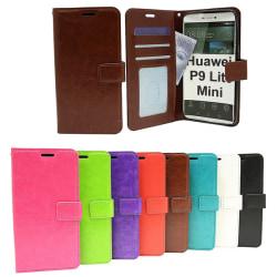 Crazy Horse Wallet Huawei P9 Lite Mini Grön