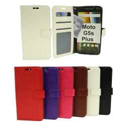 Crazy Horse Wallet Moto G5s Plus (XT1806) Hotpink