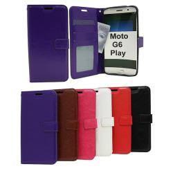 Crazy Horse Wallet Motorola Moto G6 Play Röd