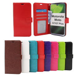 Crazy Horse Wallet Motorola Moto G7 / Moto G7 Plus Brun