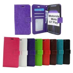 Crazy Horse Wallet Motorola Moto G7 Play Brun