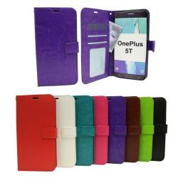 Crazy Horse Wallet OnePlus 5T Svart