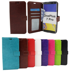 Crazy Horse Wallet OnePlus 7 Pro Lila