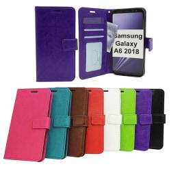 Crazy Horse Wallet Samsung Galaxy A6 2018 (A600FN/DS) Röd