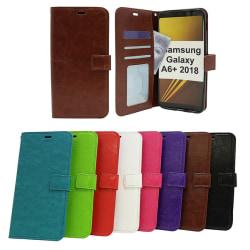 Crazy Horse Wallet Samsung Galaxy A6+ 2018 (A605FN/DS) Röd