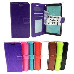 Crazy Horse Wallet Samsung Galaxy J6 2018 (J600FN/DS) Svart