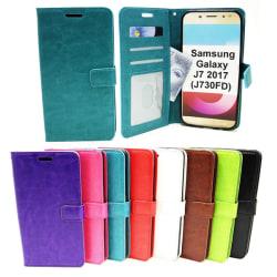 Crazy Horse Wallet Samsung Galaxy J7 2017 (J730FD) Turkos