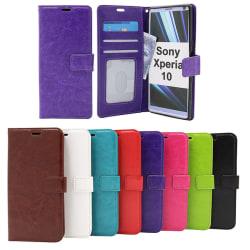 Crazy Horse Wallet Sony Xperia 10 Röd