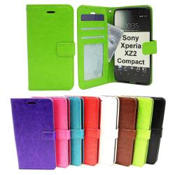 Crazy Horse Wallet Sony Xperia XZ2 Compact (H8324) Brun