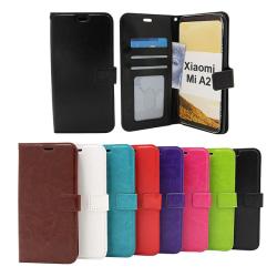 Crazy Horse Wallet Xiaomi Mi A2 Svart