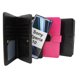 Crazy Horse XL Magnet Wallet Sony Xperia 10 Hotpink