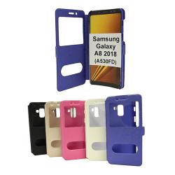 Flipcase Samsung Galaxy A8 2018 (A530FD) Svart
