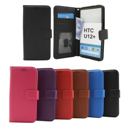 New Standcase Wallet HTC U12 Plus / HTC U12+ Svart