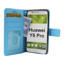 New Standcase Wallet Huawei Y6 Pro (TIT-L01) (Ljusblå)