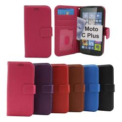 New Standcase Wallet Moto C Plus (XT1723) Blå