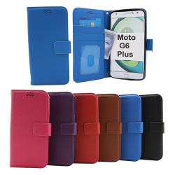 New Standcase Wallet Motorola Moto G6 Plus Röd