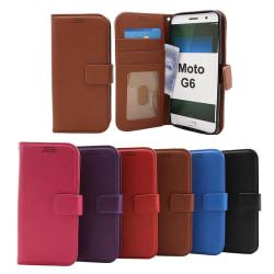 New Standcase Wallet  Motorola Moto G6 Röd