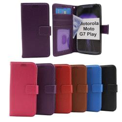 New Standcase Wallet Motorola Moto G7 Play Blå