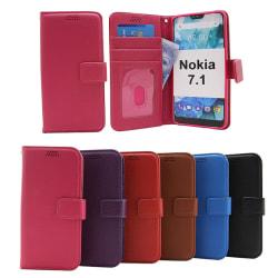 New Standcase Wallet Nokia 7.1 Röd