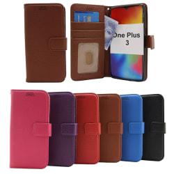 New Standcase Wallet OnePlus 3 Svart