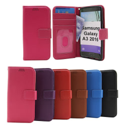 New Standcase Wallet Samsung Galaxy A3 2016 Svart