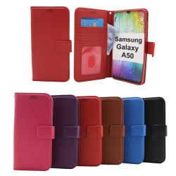 New Standcase Wallet Samsung Galaxy A50 (A505FN/DS) Röd