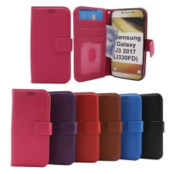 New Standcase Wallet Samsung Galaxy J3 2017 (J330FD) Hotpink