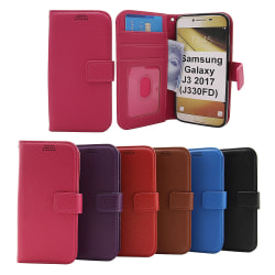 New Standcase Wallet Samsung Galaxy J3 2017 (J330FD) (Svart) Svart