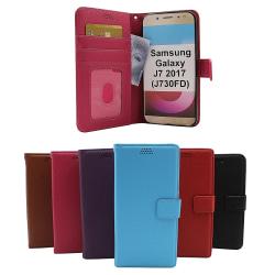 New Standcase Wallet Samsung Galaxy J7 2017 (J730FD) (Lila) Svart