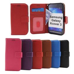 New Standcase Wallet Samsung Galaxy Xcover 3 (SM-G388F) Svart