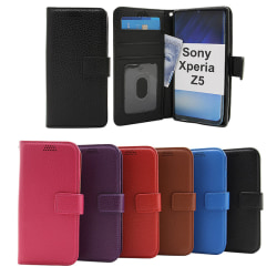 New Standcase Wallet Sony Xperia Z5 (E6653) Svart