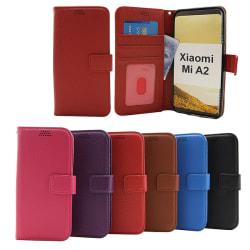 New Standcase Wallet Xiaomi Mi A2 Blå