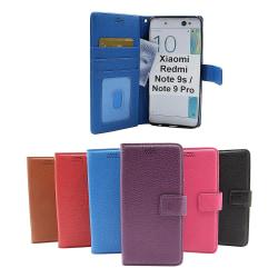 New Standcase Wallet Xiaomi Redmi Note 9s / Note 9 Pro (Svart) Svart