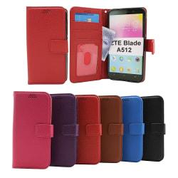 New Standcase Wallet ZTE Blade A512 (Svart) Svart