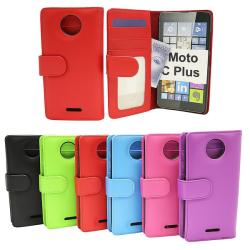 Plånboksfodral Moto C Plus Grön